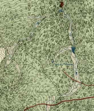 Carte Vallée du Marsault - 1933