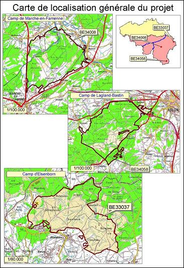 Carte d'Etat major des 3 camps