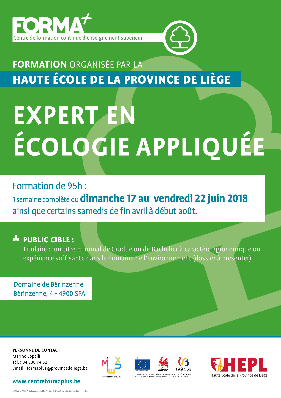 Expert en écologie appliquée - FORMA+ Affiche