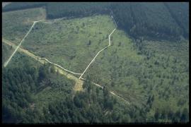 Vue aérienne Fange de l'Abîme en 1999 [copyright Duchesne Jacques]