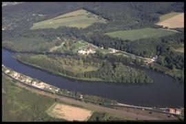Vue aérienne Ile d'Androssart en 1997 [copyright Duchesne Jacques]