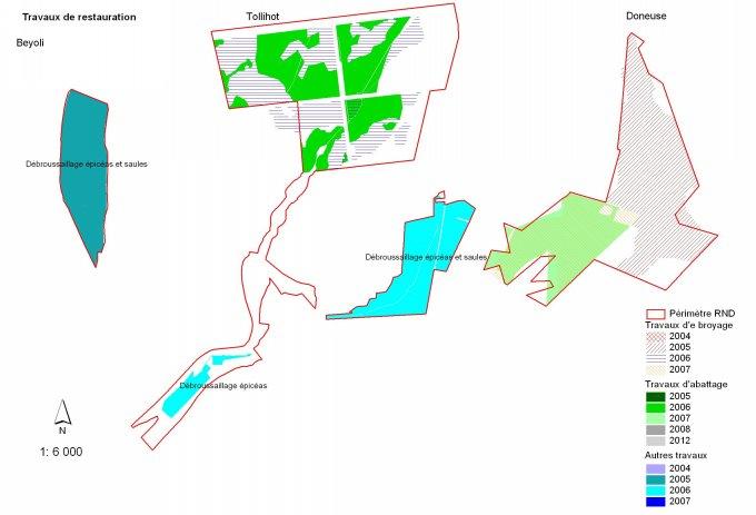 Plan de restauration de 3 sites