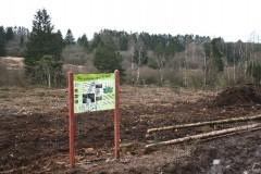 Panneau d'information au Plateau des Tailles