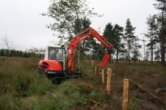 Mise en place d'une clôture pour assurer le pâturage au Plateau des Tailles