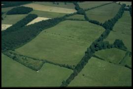 Vue aérienne La prée à Dailly en 2000 [copyright Duchesne Jacques]
