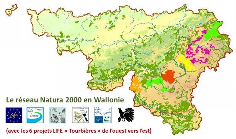 """Natura 2000 en Wallonie avec les 6 projets LIFE """"Tourbières"""""""