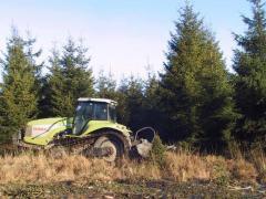Broyeur sur tracteur